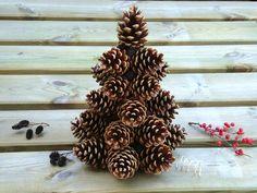 Pine cones decorative tree pinecone Christmas tree por OlgaArtShop