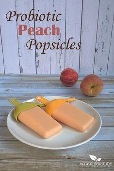 Probiotic Peaches and Cream Popsicle Recipe