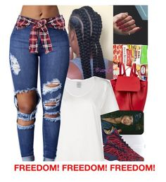 """Happy 4th of July"" by divap01 ❤ liked on Polyvore featuring Sessions, Mansur Gavriel, NIKE and Visvim"