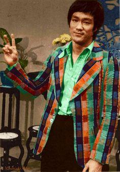 Bruce Lee rare photo. Fashion