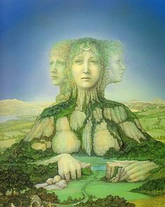 "Banba is the Celtic Goddess of the spirit of Ireland. She is one of the Tuatha de Danaan. ""Banba's themes are protection. Her symbol is soil. A Celtic war goddess, Banba extends safety … Triple Goddess, Goddess Of Love, Gaia Goddess, Earth Goddess, Sacred Feminine, Divine Feminine, Irish Mythology, St Brigid, Irish Traditions"