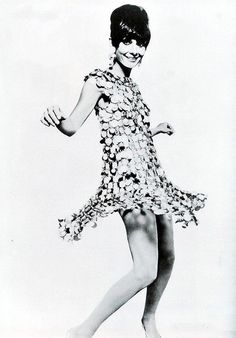 """Audrey Hepburn wearing Paco Rabanne in the film """"Two for the Road"""", photo by William Klein, 1967 Paco Rabanne Parfum, Audrey Hepburn Born, William Klein, Vintage Outfits, Vintage Fashion, Timeless Fashion, Givenchy, Dior, Sixties Fashion"""