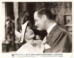 Bette Davis and Robert Montgomery in June Bride 1948 Movie Still