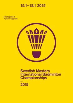 A new look for the world's fifth largest sport — Stockholm Design Lab Shuttle Badminton, Badminton Logo, Design Lab, Print Design, Graphic Design, Badminton Pictures, Squash Club, Badminton Championship, Club Poster