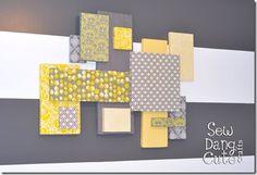 Styrofoam Wall Art - grey and yellow