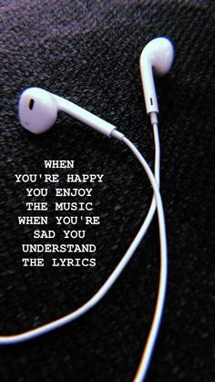 Enjoy the music Wallpaper - Musik - Wallpaper New Quotes, Mood Quotes, True Quotes, Inspirational Quotes, Motivation Quotes, Missing Quotes, Heart Quotes, Short Sad Quotes, Sadness Quotes