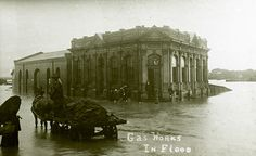 The Gas Works in Flood [King and Steel Streets Newcastle NSW