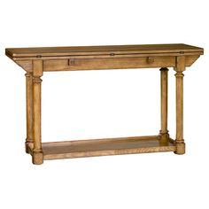 Console table with 2 flip-top panels and 1 display shelf.  Product: Console tableConstruction Material: Oak... Joss and Main