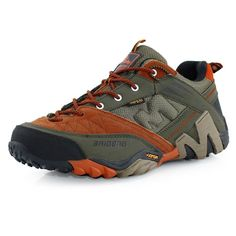 Waterproof Men s Genuine Leather Hiking Shoes Men Trail Outdoor Climbing  shoes 7b30d2a5d8