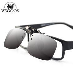 06eb10c52d New Polarized Sunglasses Clip on Eyeware Myopia Glasses For Fishing Driving  Traveling Night Vision Easy Flip