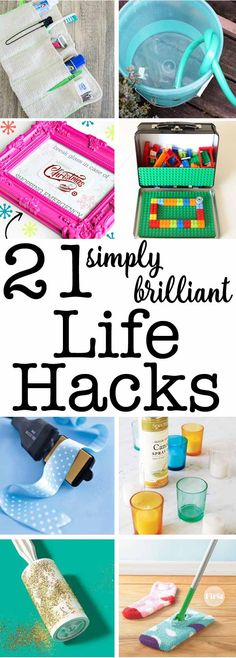 """Life hacks - we all love them! These 21 simply brilliant ideas will make you wonder.... """"Why didn't I think of that?!?"""" SUCH smart things to know!"""