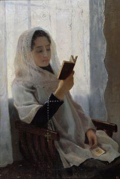 Joan Llimona i Bruguera (Spanish, 1860-1926) - Reading (1891)