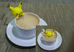 Pokemon pikachu latte art