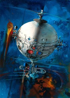 shear-in-spuh-rey-shuhn: JOHN BERKEY Fire Charge Acrylic/Casein x From one science fiction lover to another. John Berkey, 70s Sci Fi Art, Space Painting, Science Fiction Art, Space Gallery, Pulp Art, Retro Futurism, Paintings For Sale, Cover Art