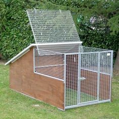 How to build a dog run with attached doghouse kennel for Recinto in legno per cani