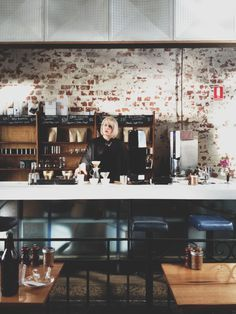 Barista AMY MALONE - Auction Rooms Cafe - North Melbourne, Melbourne. Melbourne Food, Barista, Liquor Cabinet, Amy, Auction, Rooms, Furniture, Home Decor, Style