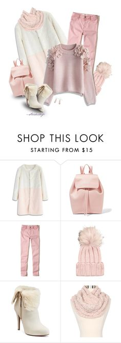 """Sweater Weather ~ Pastels"" by stardustnf ❤ liked on Polyvore featuring Chicwish, Mansur Gavriel, Hollister Co., Inverni, Jennifer Lopez, Betsey Johnson, Hiho Silver, pastels, sweaterweather and wintersweater"