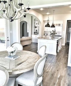 Breakfast Room off Kitchen. Farmhouse Breakfast Room off. Breakfast Room off Kitchen. Farmhouse Breakfast Room off…. House Design, New Homes, Farmhouse Kitchen Design, House Interior, Farmhouse Dining, House, Home, Dream Kitchen, Kitchen Design
