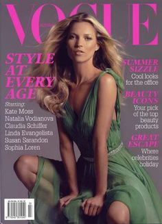 This is what I call FASHION: Kate Moss on covers of Vogue!!!
