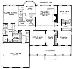 images about story house plans on Pinterest   Monster    First Floor Plan of Cape Cod Country Southern Traditional House Plan