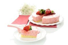 Tarta de fresas y nata. Hecha: impresionante!!!!!!