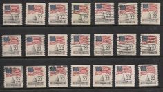 PNC Singles S# 2115&b 22c Flag Over Capitol Dome 7 MNH 14 Used CV $43.00