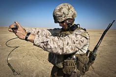 What Does This Button Do? (U.S. Marine Corps photo by Cpl. Bobby J. Gonzalez)