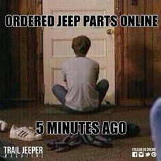 Or obsessively checking shipment status... #Truth