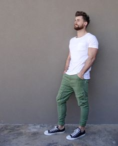 green jeans and white tee | Raddest Looks On The Internet: http://www.raddestlooks.net