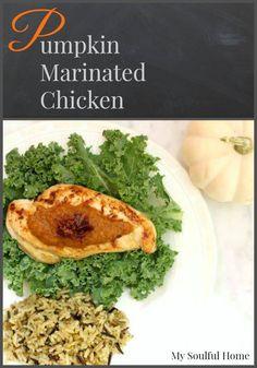 Pumpkin Marinated Chicken recipe hashtag FosterFarmsFresh ad @fosterfarms