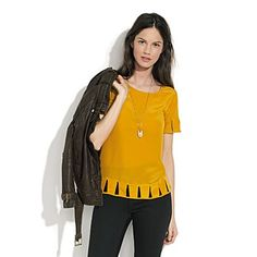 Madewell silk daytripper top - Love this color...perfect for fall.