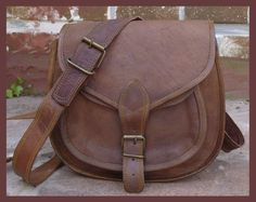 40 off Small Leather crossbody purse / brown by handmadeforyou10, $29.00
