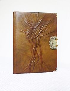 Leather Gift Journal A5 Diary Tree of Life Journal by AnnaKisArt