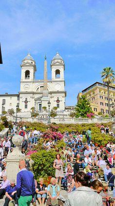 Bottom of the steps, Piazza di Spagna, via Flickr.