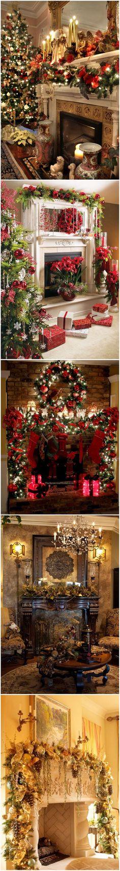 Christmas Mantle Decorating Ideas #styleestate