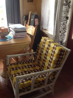 Upcycled Cane Chair #during