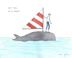 Poster | SET SAIL ON A WHALE von Marc Johns | more posters at http://moreposter.de