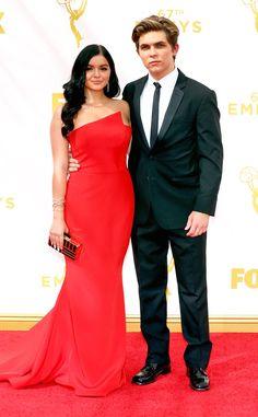 Ariel Winter & Laurent Claude Gaudette from 2015 Emmys: Red Carpet Couples  The Modern Family star stuns alongside her hottie boyfriend.