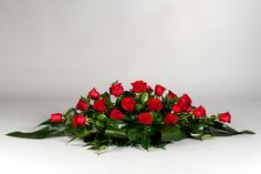 Tropical Flower Arrangements, Modern Floral Arrangements, Candle Arrangements, Flower Arrangement Designs, Church Flower Arrangements, Flower Designs, Funeral Caskets, Casket Sprays, Cottage Garden Design