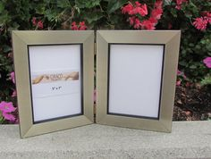 Hinged Photo Frame finished in Brushed Silver by CiracoFramers
