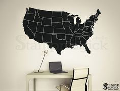 US Map With Pins DIY Kit United States Push Pin Map Wall Art - Us wall map for kids