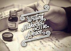 Writing Makes Me Peace  . Dengan menulis hati jadi tenang ungkapan lisan di jadikan tulisan menggambarkan suasana hati saat ini. I love my hobby  . . #typography #sketchbook #sketsa #sketching #sketches #sketch #drawing #paper3d  #pencil #3d  #landscape #images #art #painting #paint #3dprinting #wordofpencils #letter #lettering#letters #handmade #typer #type #handlettering #typografi #instagram #instacollage #instapic #peace #syaugi3dman by syaugi3dman
