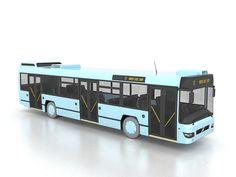 Low-floor motor bus 3d model