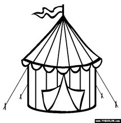 Circus tent coloring page.