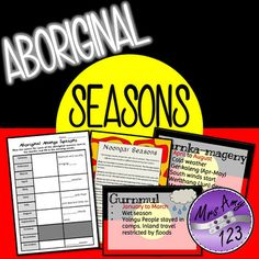 Aboriginal Seasons Paragraph Writing, Opinion Writing, Persuasive Writing, Writing Rubrics, Seasons Activities, Kids Learning Activities, Naidoc Week, Poetry Lessons, Aboriginal Culture
