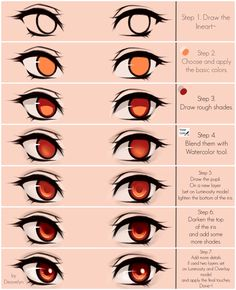 Eyes coloring tutorial v.2.0 by Deavelyn