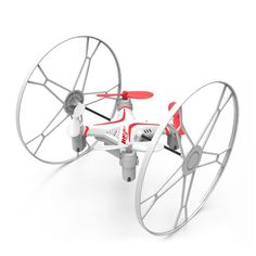 Fineco FX-5 2.4GHz 5CH 6 Axis Gyro 360 Degree Flips Walking Wheels RC Quadcopter Aircraft - White + Red