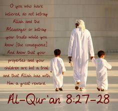 Do not betray Allah and his messenger!