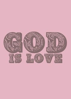 GOD IS LOVE - GOD IS LOVE (BROWN)