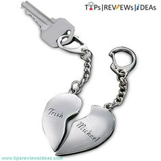 Split Heart Key Chain, 10th Anniversary Gift Ideas for Her
